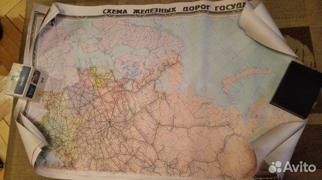 Карта Схема железных дорог