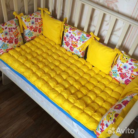 Бортики в виде подушек в кроватку своими руками