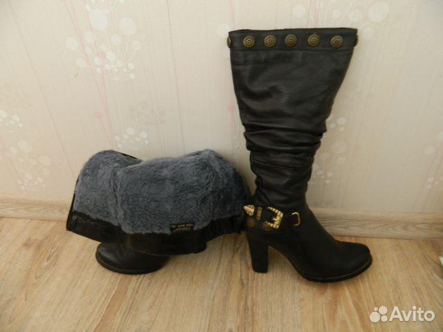 Брендовые сапоги Купить модные кожаные женские