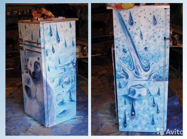 Раскрасить холодильник