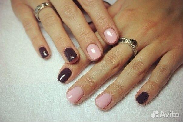 Гель лак разные цвета на ногте