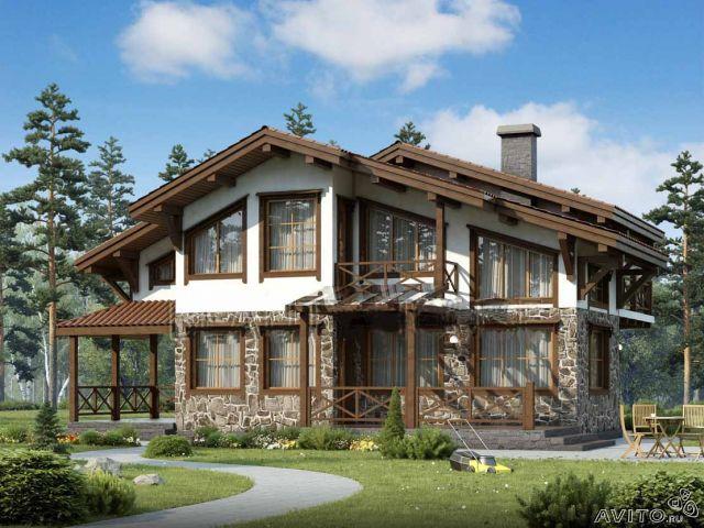 Дом шале.  Строительство и проектирование.