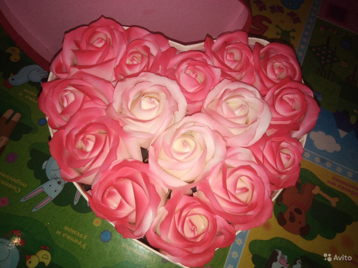 Букет из мыльных роз купить на Зозу.ру - фотография № 3
