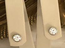"""Платиновые пусеты с бриллиантами """"Tiffany"""""""