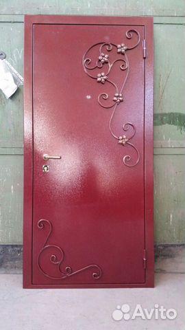 входные металлические двери в офис с ковкой