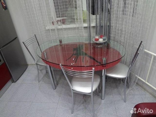 стеклянный стол обеденный фото