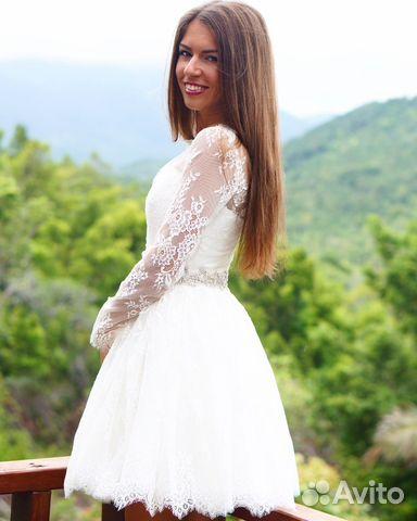 99fec9580653e80 Короткое свадебное платье купить в Санкт-Петербурге на Avito ...