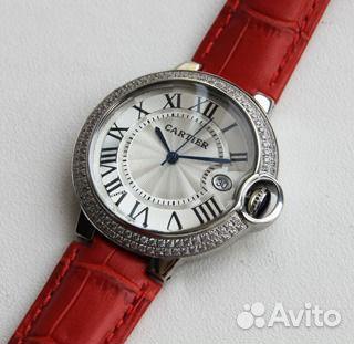 0abbdd7f Женские часы Cartier с красным ремешком   Festima.Ru - Мониторинг ...