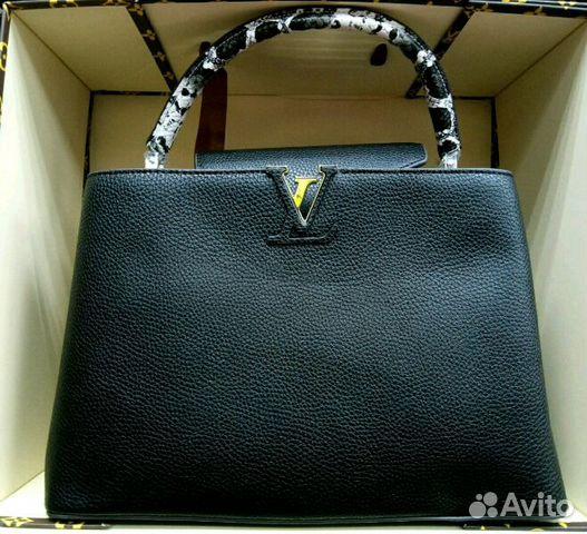 Сумка Louis Vuitton Lockme Tote черный
