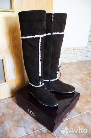 9defc23adb0c Высокие зимние кожаные сапоги на низком ходу.Замша | Festima.Ru ...