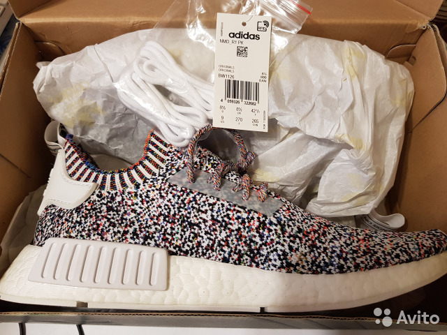 NMD R1 PK Rainbow Static Multicolor BW1126 us 9 купить в