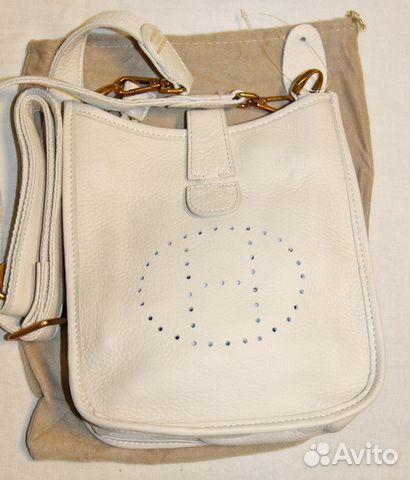 94509263fd52 Стильная женская кожаная сумка планшет -H- beige купить в Москве на ...