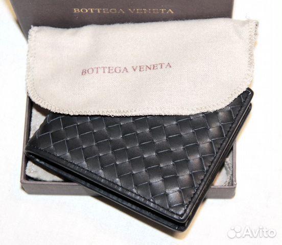 bf3bf913f46e Мужской кожаный кошелек Bottega Veneta black купить в Москве на ...