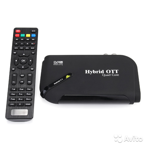 Android Smart TV Box Hybrid OTT + DVB-T2 Tuner