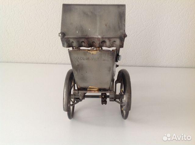 Модель велорикши, рикша металл купить 2