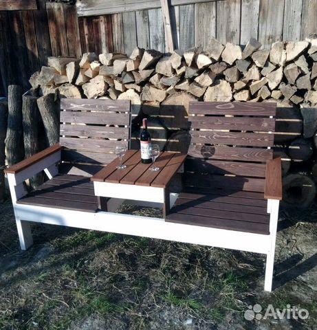 Лавка садовая деревянная  89378211314 купить 1