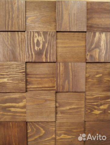 Декор стен 3д плиткой из дерева