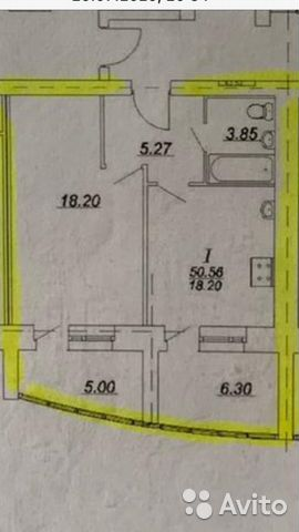 1-к квартира, 50 м², 10/10 эт.  89209609646 купить 1