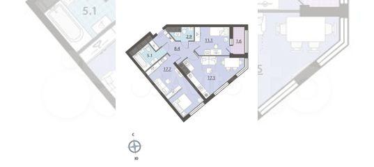 2-к квартира, 63.9 м², 17/32 эт. в Свердловской области | Покупка и аренда квартир | Авито