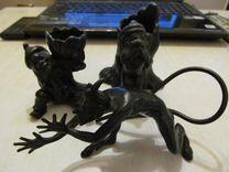 3 статуэтки (чугун ). цена за все 2000