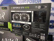 Мощная видеокарта MSI armor GTX 1070 8Gb