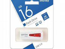 Флеш-накопитель 16Gb SmartBuy Iron, USB 3.0, белый