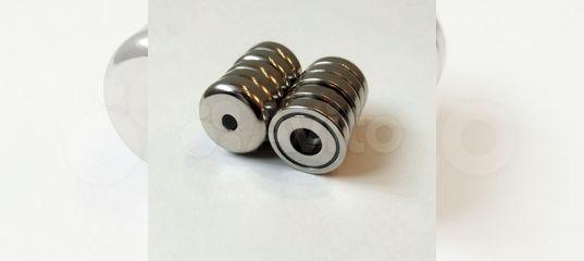 Неодимовые магниты с отверстием В16, В25, В36, А25 купить в Воронежской области | Хобби и отдых | Авито