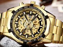 Мужские механические часы Winner Luxury Gold