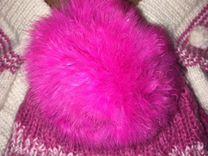 Комплект зимний шапка, снуд и варежки