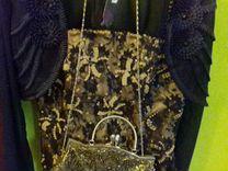 Платье вечернее новое сумочка болеро