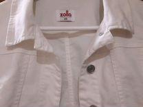 Куртка белая джинсовая