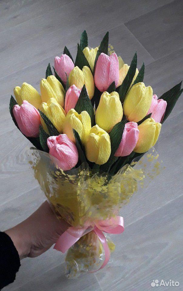 Сладкие тюльпаны на заказ  89519989628 купить 2