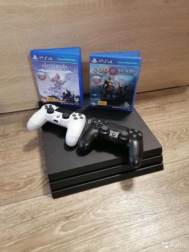 PS4 Pro 1Tb 2игры,2джойстика  89528865524 купить 1